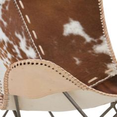 Cowhide And Leather Butterfly Chair Comfy Reading Chair, Cozy Chair, Big Chair, Leather Butterfly Chair, Chair Parts, Papasan Chair, Antique Shops, Furniture Collection, Living Room Chairs