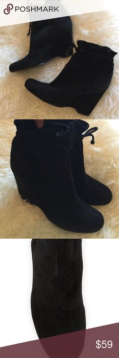 1d8165a4580 Authentic Kate Spade Black Suede Wedge Boots 8 This are from a style pop-up