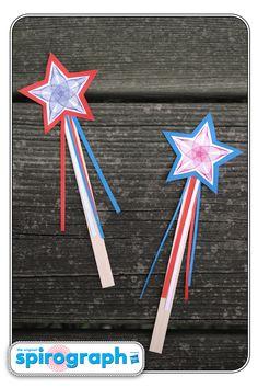Spirograph star wands