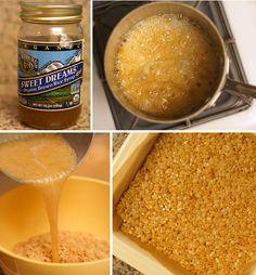 making healthy rice krispy treats