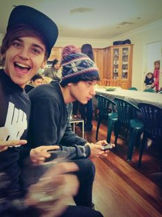 Beau & Jai at James' house for a Lebanese BBQ