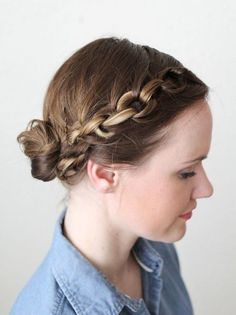 Skip the headband + try out a chain braid instead with this easy tutorial for short hair.