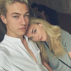 Joplin and Celia (Lucky Blue Smith and Pyper America Smith) Lucky Blue Smith, Kaito, North Dakota, Daisy Clementine Smith, Pyper America Smith, Blue Jam, Siblings Goals, Celebrity Siblings, Frederique