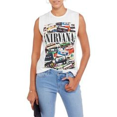 "Free 2-day shipping on qualified orders over $35. Buy Juniors' ""Nirvana"" 90's Rock Tapes Muscle Tank at Walmart.com"