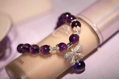 Natural 8 mm amethyst bracelet lap, 925 silver accessories, butterfly pendant, crystal transparent by JadeSquare on Etsy https://www.etsy.com/listing/220640911/natural-8-mm-amethyst-bracelet-lap-925