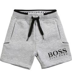 Boys Summer Outfits, Kids Outfits, Casual Outfits, Designer Mens Shorts, Short Gris, Grey Shorts, Sport Shorts, Hugo By Hugo Boss, Mens Jogger Pants