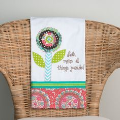 Faith Makes All Things Possible Tea Towel