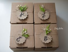 Simple packaging. Lady Selva Shop Gift Wrapping Ideas
