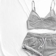 Women Summer Nightwear Casual Set Short Vest Top Short Pants Sleepwear Underwear Two Piece Set Outfits Casual, Summer Outfits, Cute Outfits, Casual Clothes, Style Clothes, Sweat Clothes, Comfortable Clothes, Lazy Outfits, School Outfits