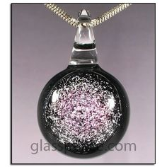SALE Sparkling Purple Dichroic Galaxy Glass Pendant by Glass Peace $15.00