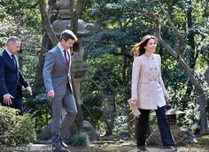 Crown princess Mary of Denmark and Crown Prince Frederik of Denmark met young Japanese students in Tokyo on March 26, 2015. (The Danish royal couple are on a three-day visit to promote Greenland)
