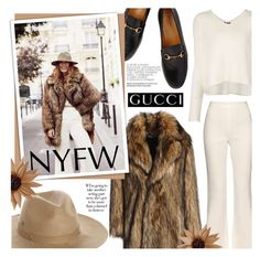 """Pack for NYFW!"" by fernandamaverick ❤ liked on Polyvore featuring Gucci, RED Valentino, Free People, Element, ATM by Anthony Thomas Melillo, Giambattista Valli, women's clothing, women, female and woman"