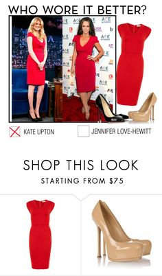 """""""Kate Upton or Jennifer Love Hewitt?"""" by thesouthafricanbelle ❤ liked on Polyvore featuring Dorothy Perkins, Christian Louboutin and Yves Saint Laurent"""