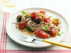 Grilled Chicken Breast with Marinated Cherry Tomato Salad from FoodNetwork.com