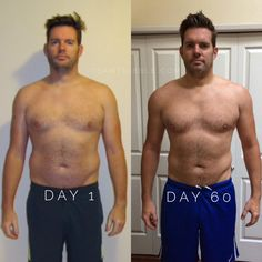 Before and After. With good nutrition and supplements