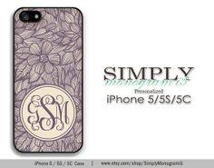 Monogram iphone 5 case iphone 5s case iphone by SimplyMonogrami5, $16.99