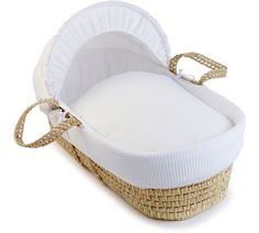 Buy Clair de Lune Waffle Moses Basket with Pine Stand at Argos.co.uk, visit Argos.co.uk to shop online for Moses baskets, Moses baskets, stands and mattresses, Sleep, Baby and nursery
