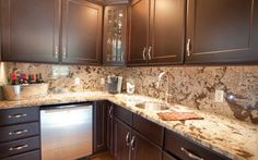30 Best Granite Backsplashes images | Granite backsplash ...