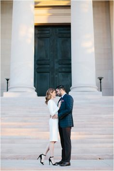 Sunrise Engagement Session at National Gallery of Art by Sarah Bradshaw Photography