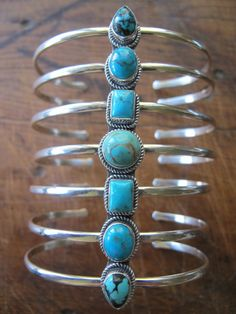 sterling silver and turquoise cuff.