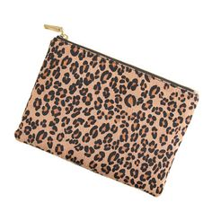 Calf hair pouch - small leather goods - Women's accessories - J.Crew