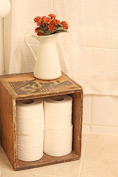 Might be a cute idea for the corner of the half bath.