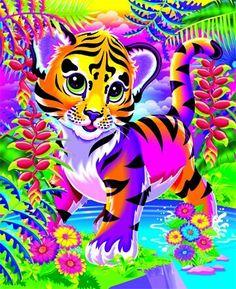 Lisa Frank tiger kitten