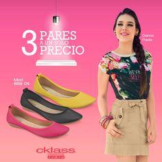 Conoce el six pack de #Cklass 3 pares 1 solo precio, con colores básicos para el verano, que te harán lucir sencilla y a la moda, son perfectas para usar todo los días. www.cklass.com
