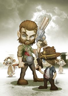Rick and Carl Grimes Walking Dead Zombies, Fear The Walking Dead, Rick And Carl, Art Français, Desenho Tattoo, Stuff And Thangs, Character Concept, Character Art, Illustration