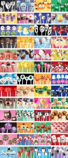 A Million Cake Pop ideas- celebrating 5 years of cake pops with Bakerella! The original cake pop! A Million Cake Pop ideas- celebrating 5 years of cake pops with Bakerella! The original cake pop! Yummy Treats, Sweet Treats, Cupcakes Decorados, Bakerella, Cookie Pops, Savoury Cake, Cute Cakes, Creative Cakes, Cupcake Cookies