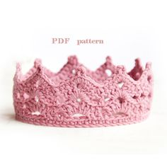 crochet baby crown pattern, baby crown, baby photo prop, princess crown, prince crown, newborn crown, baby tiara, easy crochet pattern, begi...