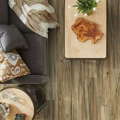 Can you tell it's not real wood? Luxury Vinyl Plank looks like the real thing and it's completely waterproof so you can use it in any room!