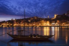 Douro River at Oporto, Portugal.