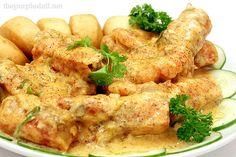 Laksa Prawns with Fried Mantou
