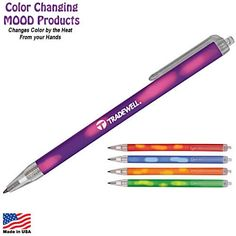 Cool! Promotional Mood Sham Color Changing Click Pen   Customized Color Changing Pens   Promotional Color Changing Pens