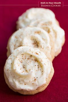 Melt-In-Your-Mouth Eggnog Cookies - these are amazing! They're my new favorite holiday cookie!