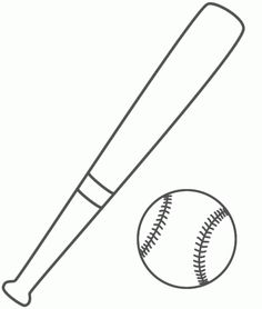 Bat, Glove, and Ball coloring page | Kids Coloring Page Baseball Coloring Pages, Bat Coloring Pages, Sports Coloring Pages, Coloring For Kids, Printable Coloring, Coloring Sheets, Bat Template, Templates Printable Free, Printables