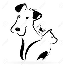 Illustration of Dog cat and bird logo silhouette image vector art, clipart and stock vectors. Silhouette Pictures, Dog Search, Sea Colour, Bird Logos, Logo Design Trends, Banner Printing, Image Photography, Clipart, Dog Pictures