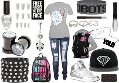 """""""Untitled #40"""" by neonlightningstorm ❤ liked on Polyvore"""