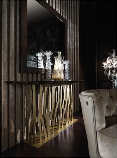 The B-52 Console Table is an elegant addition to any reception or hallway | From the Roberto Cavalli Home Interior's Iconic Collection stocked by Kings of Chelsea kofc.co.uk