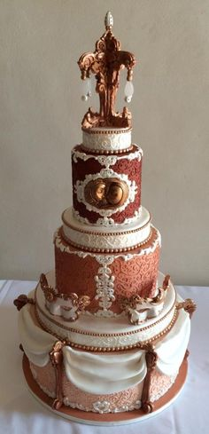 Sun & Moon Baroque Wedding Cake