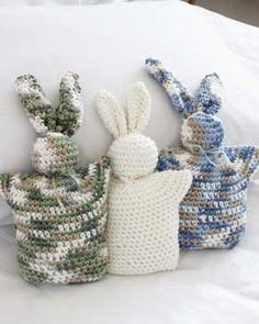 Adorable little toy bunnies that are fast and easy to make.
