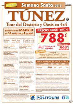 """TÚNEZ Tour del Desierto y Oasis en 4x4 """"S. Santa"""" salida 28 de Marzo dsd Mad(8d/7n)p. final dsd 868€ ultimo minuto - http://zocotours.com/tunez-tour-del-desierto-y-oasis-en-4x4-s-santa-salida-28-de-marzo-dsd-mad8d7np-final-dsd-868e-ultimo-minuto-4/"""
