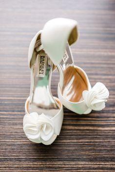 Ivory Badgley Mischka wedding heels
