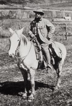 President Theodore Roosevelt on a horse in Colorado; Photographer unknown; Around 1905