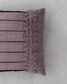 """Vera Wang """"Side Origami"""" Pillow bloomingdale's"""