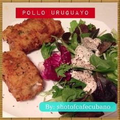 POLLO URUGUAYO-Ok, this is not exactly a Cuban recipe, but this dish (reminiscent of Chicken Cordon Bleu) is a common menu item at paladars around Cuba and was a favorite of my husband served with malanga and a side salad. While this dish is deep fried and not super healthy, it is easy to prep and a crowd-pleaser.  Recipe: Pollo Uruguayo