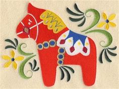 Machine Embroidery Designs at Embroidery Library! - Swedish Folk Art