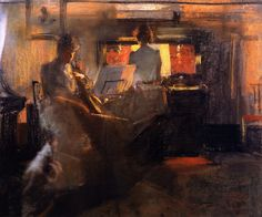 Candlelight, James Guthrie. Scottish (1869 - 1930)