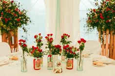 decoration de mariage rétro et rouge sur Trendy Wedding le blog